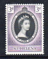 T1701 - ST. HELENA 1953 , Coronation Incoronazione : L'emissione ** - Isola Di Sant'Elena
