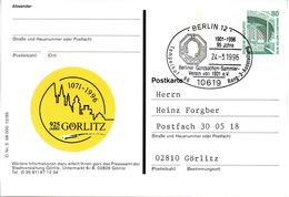 """BRD Bildpostk. 80 Pf.WSt.Sehenswürdigkeiten Zeche Zollern P154 1995-12/5 """"Görlitz - 925 Jahre"""" SST 24.3.96 BERLIN 12 - Bildpostkarten - Gebraucht"""