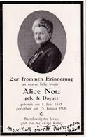 Alice NOTZ Geb. De Daguet - ° 1845 -  † 1926 - Andachtsbilder