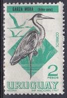 Uruguay 1968 Tiere Fauna Animals Vögel Birds Oiseaux Pajaro Uccelli Reiher Heron, Mi. 1110 ** - Uruguay