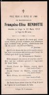 Françoise-Elise HENROTTE - † Liège 1913 - 64 Ans - Andachtsbilder
