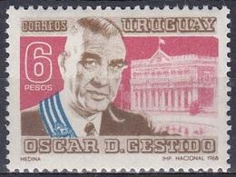 Uruguay 1968 Geschichte Persönlichkeiten Politiker Politician Präsident President Militär General Gestido, Mi. 1131 ** - Uruguay