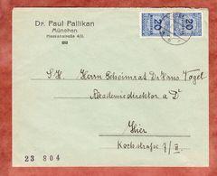 Brief, MeF Korbdeckel, Innerhalb Muenchen, November 1923 (46195) - Allemagne