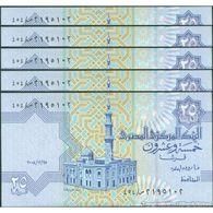 TWN - EGYPT 57n - 25 Piastres 25.12.2008 DEALERS LOT X 5 UNC - Egitto