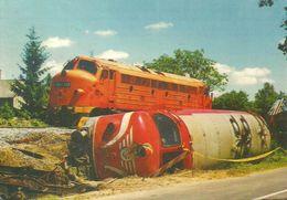 RAIL RAILROAD RAILWAY TRAIN DIESEL LOCOMOTIVE NOHAB ACCIDENT BADACSONYLABDIHEGY BADACSONYTORDEMIC Parragh 0323 * Hungary - Trenes