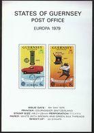 Guernsey 1979 / Prospectus, Leaflet, Brochure / Europa CEPT - Europa-CEPT