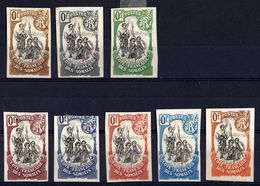 Côte Française Des Somalis - 1902 - Essai - The Stamps From The Lower Row Are All Damaged On The Backside! - Ungebraucht