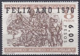 Uruguay 1969 Neujahr Persönlichkeiten Kunst Kultur Literatur Literature Schriftsteller Cervantes Saavedra, Mi. 1158 ** - Uruguay