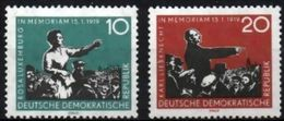 DDR RDA ALLEMAGNE DEMOCRATIQUE 389 Et 390 Mort De Rosa Luxemburg Et Karl Liebkne - Célébrités