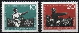 DDR RDA ALLEMAGNE DEMOCRATIQUE 389 Et 390 Mort De Rosa Luxemburg Et Karl Liebkne - Famous People