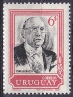 Uruguay 1969 Geschichte Persönlichkeiten Politiker Politician Präsident President Berreta, Mi. 1159 ** - Uruguay