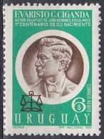 Uruguay 1970 Geschichte Persönlichkeiten Politiker Politician Ciganda Waage Scale Justiz, Mi. 1162 ** - Uruguay