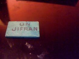 Jeton Publicitaire De Nain Jaune En Bois,    Un Jifran   Objet De Bistrot Autentique - Jeux De Société