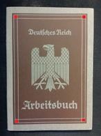 Arbeitsbuch Für Eine Frau Hannover Meldekarte (Nachkriegs-) Bescheinigung Arbeitsamt Salamander Herhold Hanomag - Dokumente