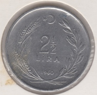 @Y@  Turkije  2 1/2  Lira   1960     (2698) - Turquie