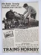 1931 -  Publicité Jouet  -  Train Hornby Railways - Coupure De Presse Originale (Encart Photo) - Publicités