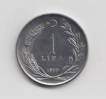 @Y@  Turkije  1  Lira   1959   (2696) - Turquie