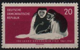 DDR RDA ALLEMAGNE DEMOCRATIQUE  539 ** Singe Affe Monkey Ape Colobe - Monkeys