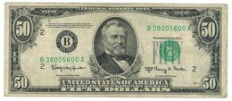 U.S.A. 50 Dollars , 1950 E. Used, See Scan. Rare. - United States Notes (1928-1953)