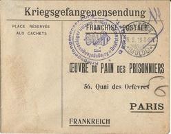 CAMP  PRISONNIER  DE  GUERRE  ALLEMAGNE  HOLZERN  ( Mulde ) /  Envoi à PARIS En 1916  Oeuvre Du Pain Des Prisonniers - Guerre De 1914-18