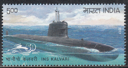 INDIA 2017,  INS KALVARI, Submarine Arm Of Indian Navy, 1v Complete, MNH(**) - Inde