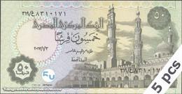 TWN - EGYPT NEW - 50 Piastres 3.1.2017 DEALERS LOT X 5 UNC - Egitto