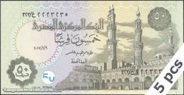 TWN - EGYPT NEW - 50 Piastres 9.1.2017 DEALERS LOT X 5 UNC - Egitto