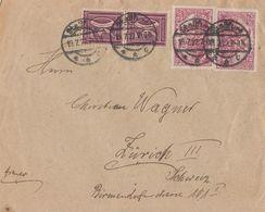 DR Brief Mif Minr.2x 115, 2x 183 Staßfurt 19.7.22 Gel. In Schweiz - Deutschland