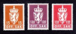 NORVEGE 1981  - SERVICE 107/109 - Neuf ** Luxe /  MNH - Série 3 Valeurs - Service