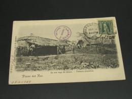 Cuba 1908 Tobacco Farm Picture Postcard To France *8844 - Cuba