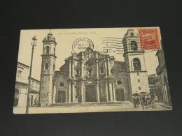 Cuba 1911 Havana Cathedral Picture Postcard To France *8834 - Cuba