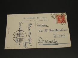 Cuba 1920 Picture Postcard To Finland *8926 - Cuba