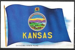 Kansas, State Flag, Unused - United States