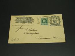 Cuba 1926 Postal Card To Finland Right Edge Fault *8927 - Cuba