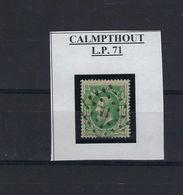 N°30 GESTEMPELD Pt71 Charleroi (ville-Haute) COBA € 20,00 SUPERBE - Punktstempel
