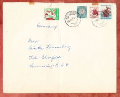 Grossbrief, MiF Breitmaulnashorn U.a., Christmas Vignette, Port Elizabeth Nach Koeln 1957 (46209) - Storia Postale