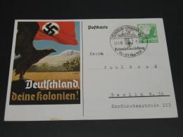 Germany 1938 Picture Postal Card Nazi Swastika Propaganda *8698 - Germany