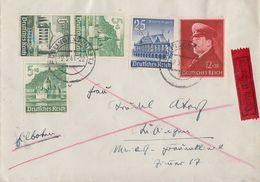 DR Brief Eilbote Mif Minr.753,758,772,Zdr. Minr.S 258 Böblingen 9.5.41 - Deutschland