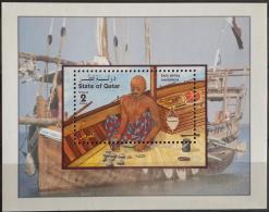 Q23 Qatar 1998 SG MS1046 Souvenir Sheet MNH - S/S - Early Pearl Diving Equipment - Qatar