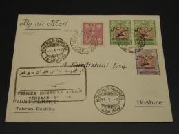 Iran 1928 First Flight Tehran Bushire Cover *8250 - Iran