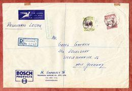 Luftpost, Einschreiben Reco, Bosch Products, MiF Antilope U.a., Rissikstraat Johannesburg, Nach Duesseldorf (46210) - Storia Postale