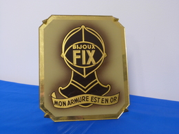 """Magnifique Plaque En Verre """"BIJOUX FIX"""" - Advertising (Porcelain) Signs"""
