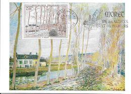 1812 - CANAL DU LOING - A. SISLEY - Flamme Concordante De Moret-sur-Loing - TTB - Maximumkarten