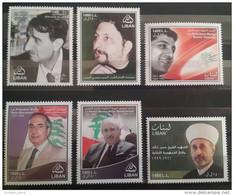 Lebanon 2010 COMPLETE Set 6v. MNH - Assasinated Presidents & Politicians, Martyrs - Lebanese Flag - Lebanon