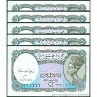 TWN - EGYPT 190c - 5 Piastres L.1940 (2002) DEALERS LOT X 5 - Various Prefixes - Signature: Medhat A. Hassanein UNC - Egitto