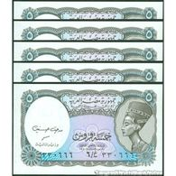 TWN - EGYPT 190Ab - 5 Piastres L.1940 (2002) DEALERS LOT X 5 - Various Prefixes - Signature: Medhat A. Hassanein UNC - Egipto