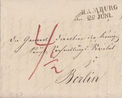 Preussen Brief L2 Hamburg 22 Juni 1837 Gel. Nach Berlin Ansehen Mit Inhalt !!!!!! - Preussen