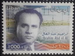 Lebanon 2001 Mi. 1406 MNH Stamp - Ibrahim Abdel Al - Electrecity & Water Engineer - Lebanon