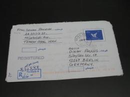 Iran 1999 Registered Aerogramme To Germany *8458 - Iran