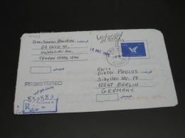 Iran 1999 Registered Aerogramme To Germany *8459 - Iran